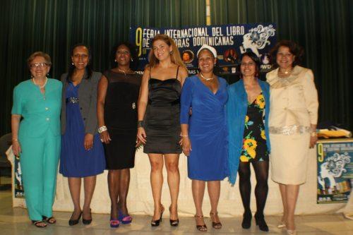 Mary-Ely Gratereaux, Sarah Aponte, Osiris Mosquea, Karina Rieke, Rosita Romero, Irka Mateo y Ana Isabel Garcia Reyes.